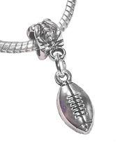 Football Ball NFL AFL Sports Superbowl Dangle Charm for European Bead Bracelets