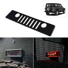 Fit 2007-2018 Jeep Wrangler Grill Logo Jeep Third Brake Light Cover Trim Decal