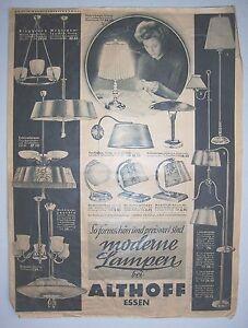 Catalogo Listino Prezzi * Althoff Pasti Moderno Lampade Circa 1950 Leuchten! (D)