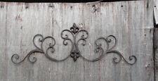 Cast Iron wall decor Fleur de Lis scrolls vine decorative curls metal wall decor