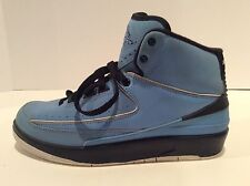 Nike Air Jordan 2 Retro GS University Blue Black 395718-401 Size 6Y