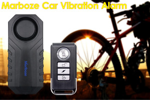 Marlboze Scooter Anti-Theft Alarm Remote Security Vibration Bike Motorcycle