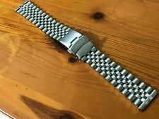 Seiko jubilee 20mm flat straight lugs stainless steel gents watch bracelet strap