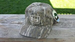 "Banded Gear ""b"" Logo Mossy Oak Bottomland Btml Camo Cotton Hunting Hat Cap NEW"