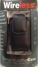 Just Wireless Collection Medium Genuine Leather Phone Case, new
