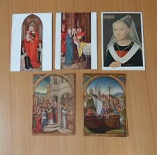 5 VINTAGE BELGIAN POSTCARDS-HANS MEMLING (1430-1494)-UNUSED/UNPOSTED
