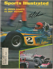 Al Unser signed autographed Sports Illustrated magazine! Authentic!