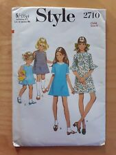 New VTG 1970s STYLE Childs'/Girls' Dress Sewing Pattern #2710 Child Sz: 4