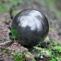 """Shungite Sphere Polished 100mm/3.94"""" made of 100% Natural Rare Stone Tolvu"""
