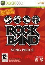 Gioco Xbox 360 Rockband Rock Band Song Pacco 2 Merce Nuova