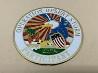 """Operation Desert Storm Participant Brass Coaster Dish Patch Medals 5"""" Eagle USA"""