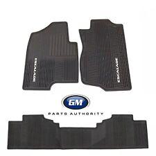 2007-2014 Cadillac Escalade ESV Front & Rear Premium All Weather Floor Mats Blk