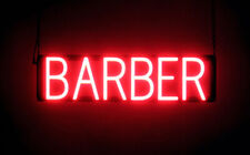 SpellBrite Ultra-Bright BARBER Sign (Neon look, LED performance)