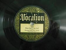 "FRANKIE ""HALF-PINT"" JAXSON: Fan It/How Can I Get It / VOCALION 1257 / 1928 Blues"