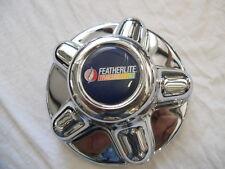 "FEATHERLITE 5 lug 4.5"" trailer chrome center cap hub cap hubcap"