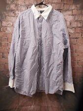 Nike Men's Lebron James Button Up Dress Shirt Blue XL  L23