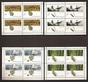 Canada #1283a-1286b MNH M/S CV$50.00 1990 Majestic Forests [PetroCanada]