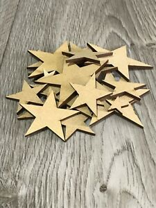 Wooden MDF Stars Craft Decorations, Plaques, Laser Cut, Embellishments Bunting
