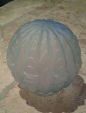 ANCIENNE OPALINE BLEU VERRE DE LAMPE ART DECO /LUMINAIRE/LUSTRE/