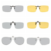 Polarized Transition Photochromic Clip-on Sunglasses UV Driving Shades UV K457