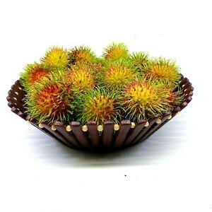 Fruit Basket HANDMADE Bamboo Vegetable Flower Vase Natural ECO FRIENDLY 1 Pcs