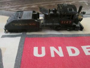 HO Scale Reading 0-4-0 Steam Locomotive (brass & die cast metal) by Mantua