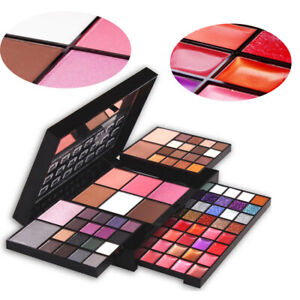 Professional Makeup Kits 74Colors Cosmetics Box Glitter Eyeshadow Blush Pallete