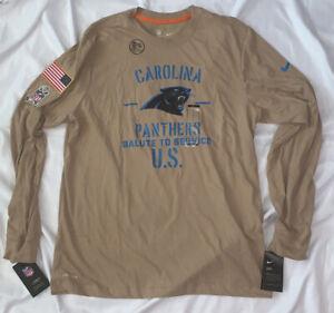 Men's Carolina Panthers Nike Salute Service Sideline Long Sleeve Shirt NWT Large