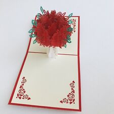 3D Pop Up Card Wedding Valentine Birthday Anniversary Greeting Invitations Cards