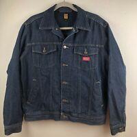 Dickies Forthworth USA Men's Denim Dark Blue Jeans Jacket Outerwear Size M EUC