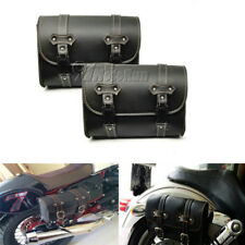 2x Motorcycle Luggage Saddlebag For Yamaha V-Star XVS 650 1100 Custom Silverado