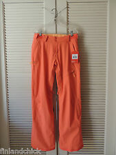 NORTH FACE RADIANT ORANGE JEPPESON WATERPROOF SNOW SPORT PANTS, WOMENS M ~NWT