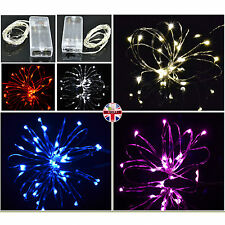 Micro LED Silver Wire Battery Operated Fairy Lights Waterproof AA & USB Powered
