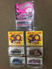 2018 Hot Wheels 32nd Convention 5-car SET Batmobile Mercury 55 Chevy Datsun Punk