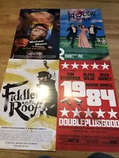 Lot Of 4 Broadway Poster Windowcards - Fiddler, 1984, Holiday Inn, Michael Moore