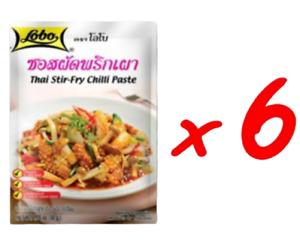 6Px PAD PRIK PAO Stir Fry Sweet Chili Paste Mild Spicy Thai Cooking Sauce DHLxp