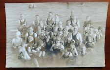 1910's Real Photo Swimmers Post Card Plus Two More