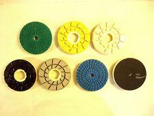 "Snail Lock 4"" Diamond Polishing Discs, 6 Piece Set, New/Other."