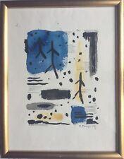 ECOLE FRANÇAISE du XXe.Comp abstraite.Encre et aquarelle.Signé BD.28x21.Cadre.