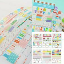 6 Sheets DIY Cartoon Calendar Diary Book Sticker Scrapbook Decoration Planner