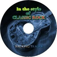 CLASSIC ROCK IN THE STYLE OF GUITAR BACKING TRACKS CD BEST GREATEST HITS MUSIC