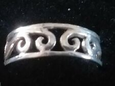 Adjustable Filigree Toe Ring Solid Sterling Silver 925