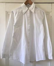 Mexx Women's White Cotton Collared Long-Sleeved Shirt Blouse UK 14 EU 42 VGC