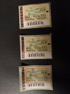3 MARCHE DA BOLLO TELEMATICHE € 14,62 ANNO 2010 VALIDE SENZA ANNULLO