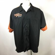 Harley Davidson Mens XXXL Embroidered Button Garage Shop Motorcycle Shirt 3XL