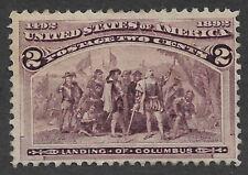 US #231 (1893) 2c Landing of Columbus - Mint, no gum - Fine