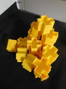 TUPPERWARE SHAPE O SORTER BALL REPLACEMENT/ SPARE YELLOW SHAPES # 8