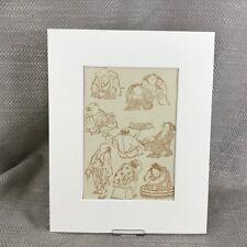 Impresión de arte japonés antiguo Hokusai Manga Victoriano alrededor de 1890