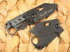 Money Black Super Slim Clip Line Lock Folding pocket Saber Knife Blades