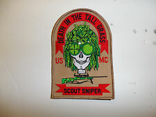 13000 USMC Sniper Patch Death in the Tall Grass Scout Sniper R7C